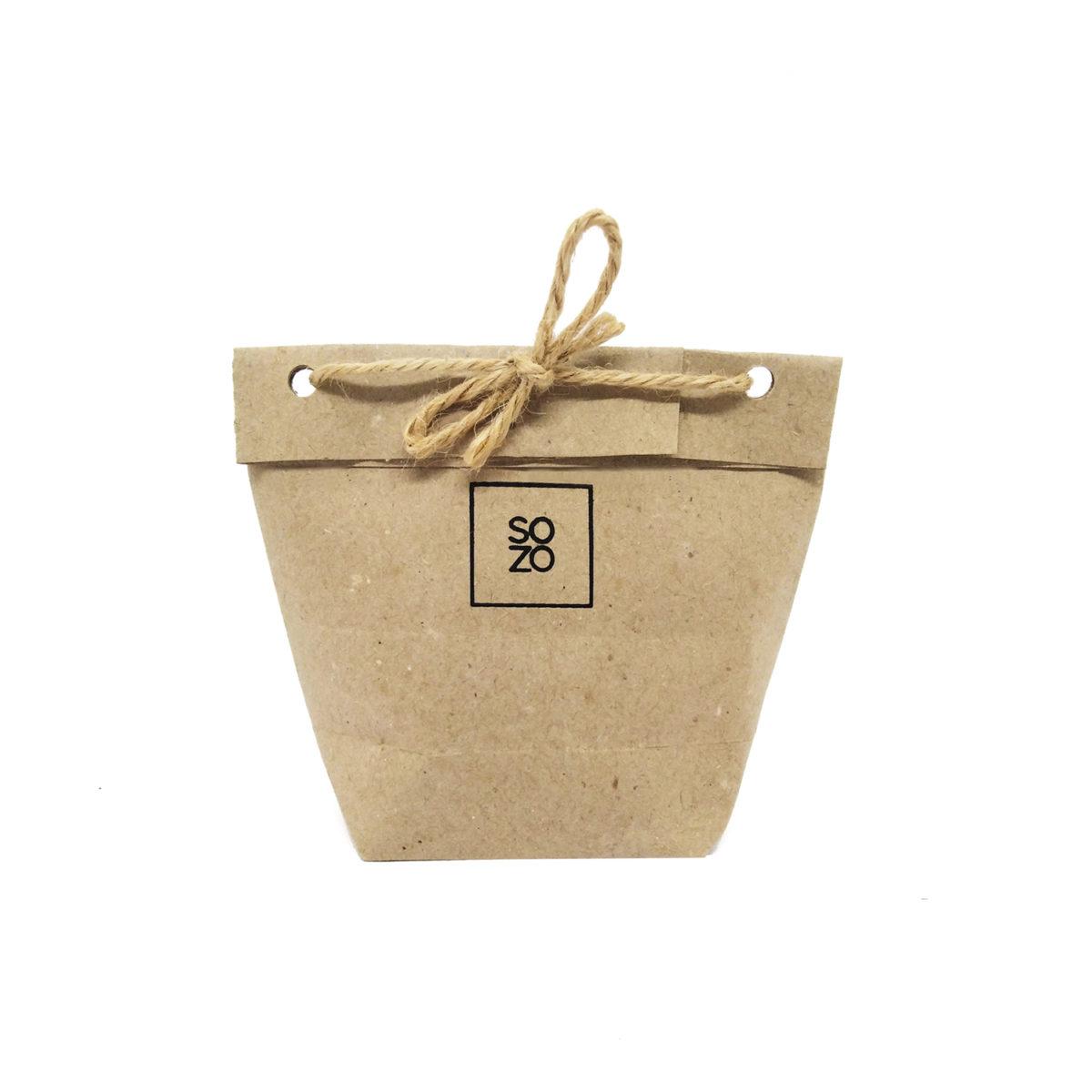 packaging des bijoux de sozo en kraft