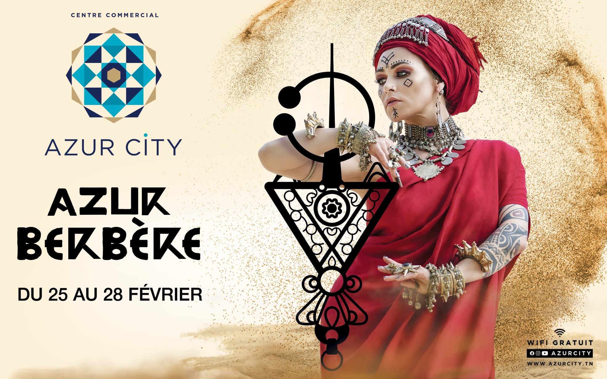 Affiche pour une expo au centre azur city