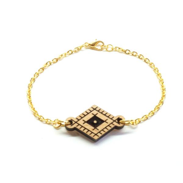 bracelet chaine œil berbère